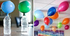 Truco para inflar globos flotadores sin utilizar helio. No gastes dinero, tendrás globos flotadores utilizando materiales que casi todos tenemos en casa. – Ideas Saludables