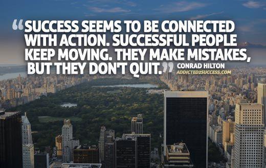 Conrad Hilton Success Picture Quote