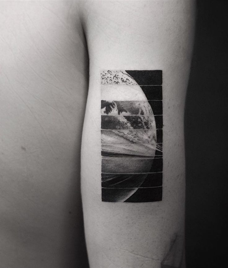 amazing segmented space tattoo by Balazs Bercsenyi