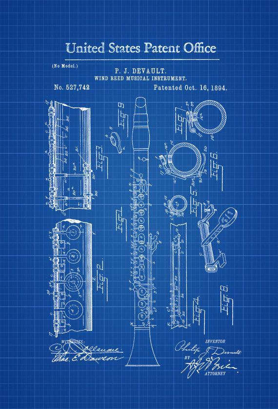 Un cartel de impresión patente de viento caña instrumento Musical inventado por P. J. Devault. La patente fue emitida por la oficina de patentes de Estados Unidos el 16 de octubre de 1894. Instrumentos de Woodwind son una familia de instrumentos musicales dentro de la categoría más general de instrumentos de viento. Hay dos tipos principales de instrumentos de viento madera: flautas e instrumentos de caña (si no llamados tubos de caña). Lo que diferencia a estos instrumentos de otros…