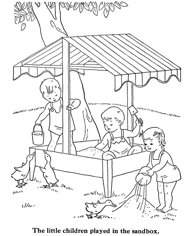 vintage coloring pages of children - photo#32