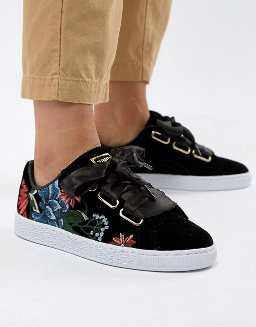 Puma Basket Heart Sneakers With Embrodiery | Sneakers | Puma