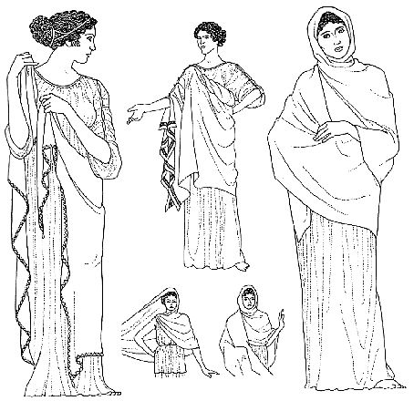Greek Palla-- Different ways to wear it