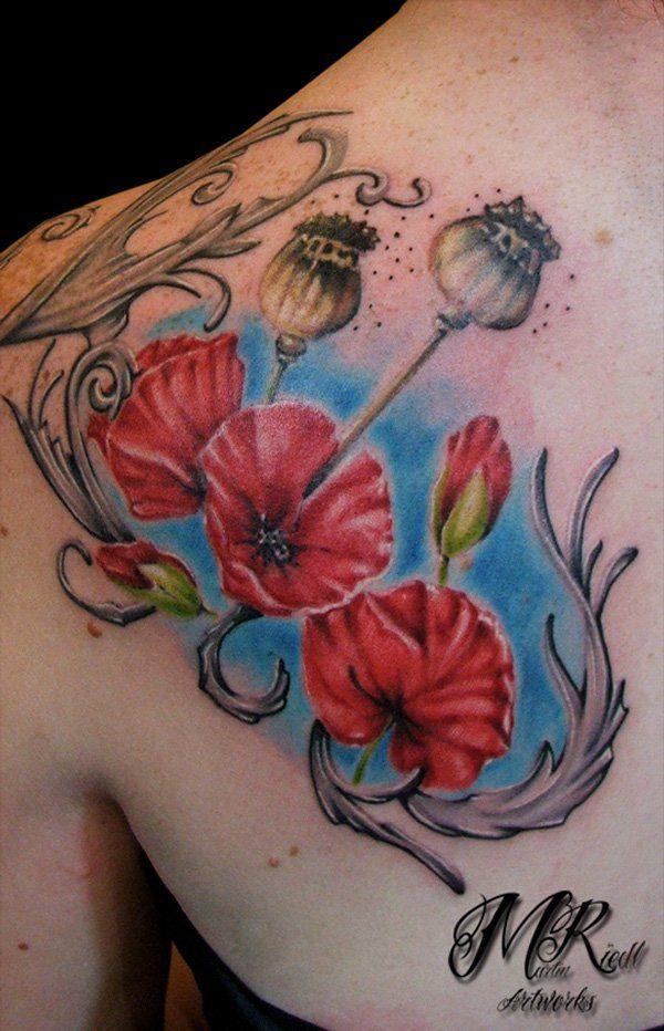 Poppys tattoo - 65+ Beautiful Flower Tattoo Designs  <3 <3