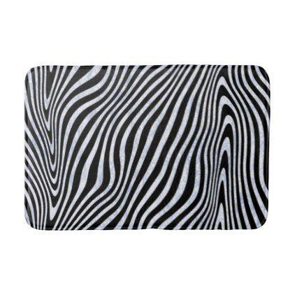 #Frosty Zebra Print Bathroom Mat - #Bathroom #Accessories #home #living