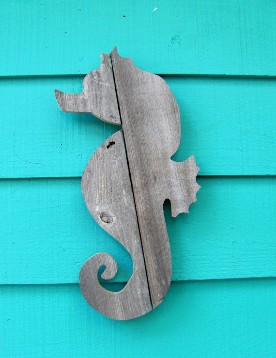 Seahorse from recycled wood