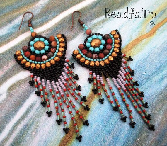 Antique Gold Earrings by BeadfairyStore on Etsy