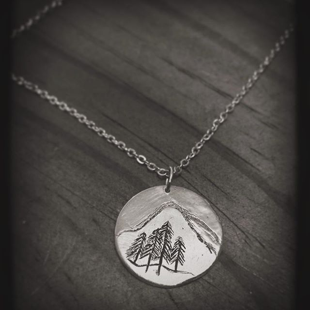 I made this custom pendant for my daughter. I sold the one she wanted at a market so I recreated it with a tree for each member of my beautiful little family. I also wrote a little note on the back that she'll hopefully keep forever. I've made the same but smaller for my little boy. I hope one day they can feel just how overwhelming the love for your kids can be. It's the most amazing feeling ❤️- -http://etsy.me/2b8CFsl  #wander #wanderer #love #daughter #pendant #explore #mountains…