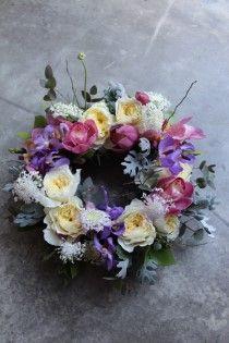 리스 wreath  양란 - 심비듐과 모카라을 이용한 리스 쟈스민이 사랑하는 리스 플라워쟈스...
