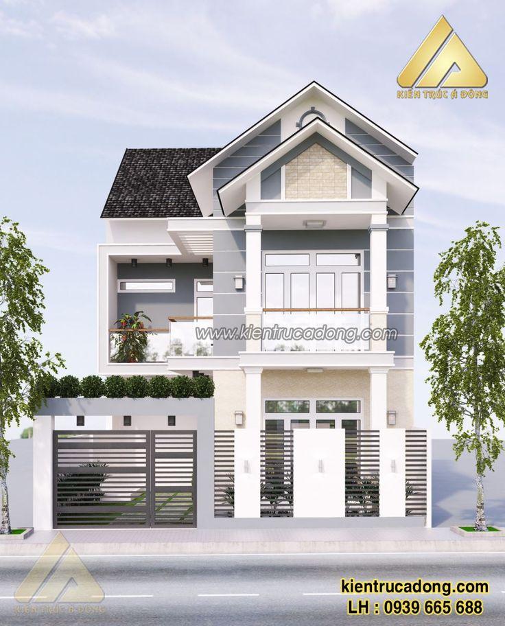 Mẫu thiết kế biệt thự theo phong cách hiện đại sang trọng thành phố Bắc Giang http://www.kientrucadong.com/mau-biet-thu-56.html