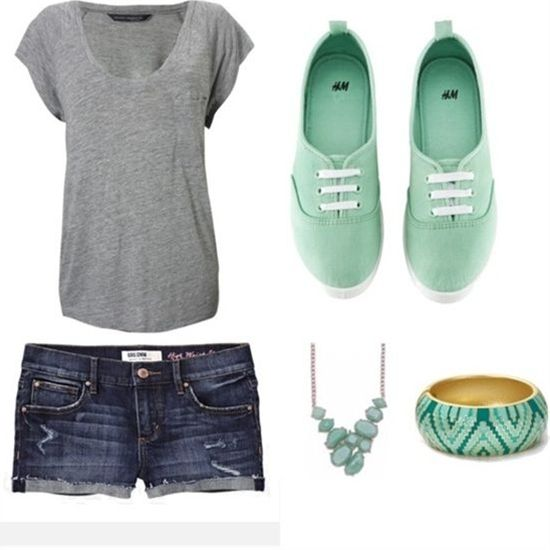 Cute summer outfit via Polyvore