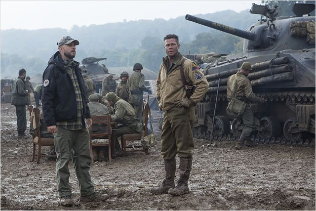 Fury : Photo Brad Pitt, David Ayer