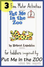 Put Me In the Zoo Fine Motor Activities