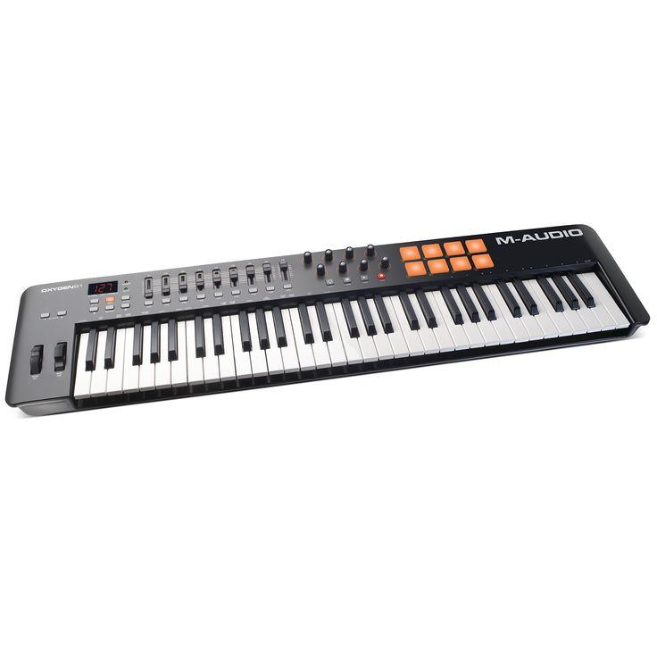 M-Audio Oxygen 61 MKIV   61-Key USB MIDI Keyboard & Drum Pad Controller (8 Pads / 8 Knobs / 9 Faders)