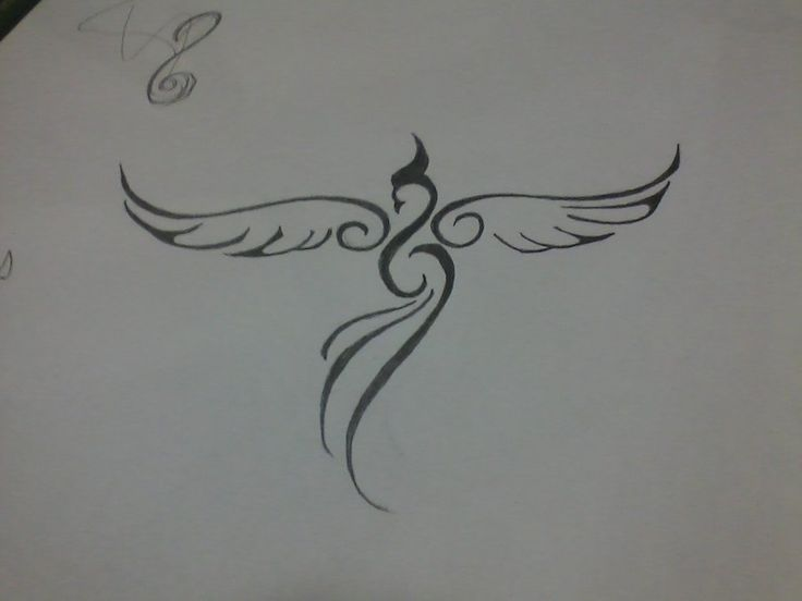 Minimalist Phoenix - I like how the body looks like an infinity symbol Add in musical symbols