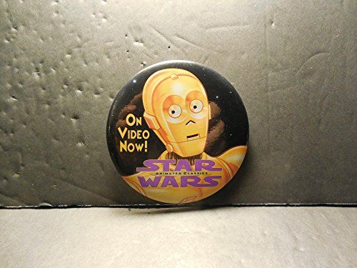 Star Wars Animated Classics On Video Now Promo Pinback Button //Price: $10 & FREE Shipping //     #starwarsmeme