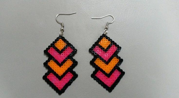Earrings hama beads by Lesbijouxdenaky