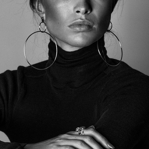 Double Drop hoops by Natasha Schweitzer // Available in gold and silver, in the Strand and Paddington #natashaschweitzer #thecornershop