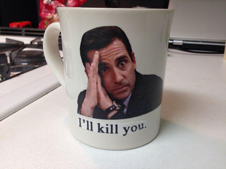 "Custom ""The Office"" mugs & glassware by GlitterCrazy on Etsy https://www.etsy.com/listing/216372910/custom-the-office-mugs-glassware"