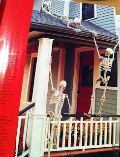 Vintage Halloween Collector: Skeleton Decor in, on and around the house.  These are some great ideas!