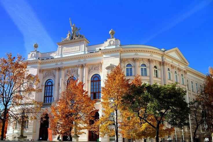 Polska Złota Jesień w PW :)  #politechnikawarszawska #warszawa #warsawuniversityoftechnology #Warsaw #architektura #architecture #polandarchitecture #jesien #autumn