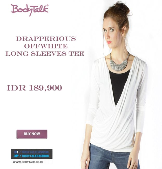 And this Long Sleeves Tee looks Wonderful on you IDR 189,900 >> http://ow.ly/vgfqT