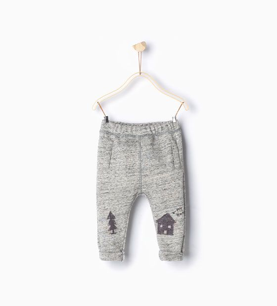 Image 1 of House and fir tree trousers from Zara