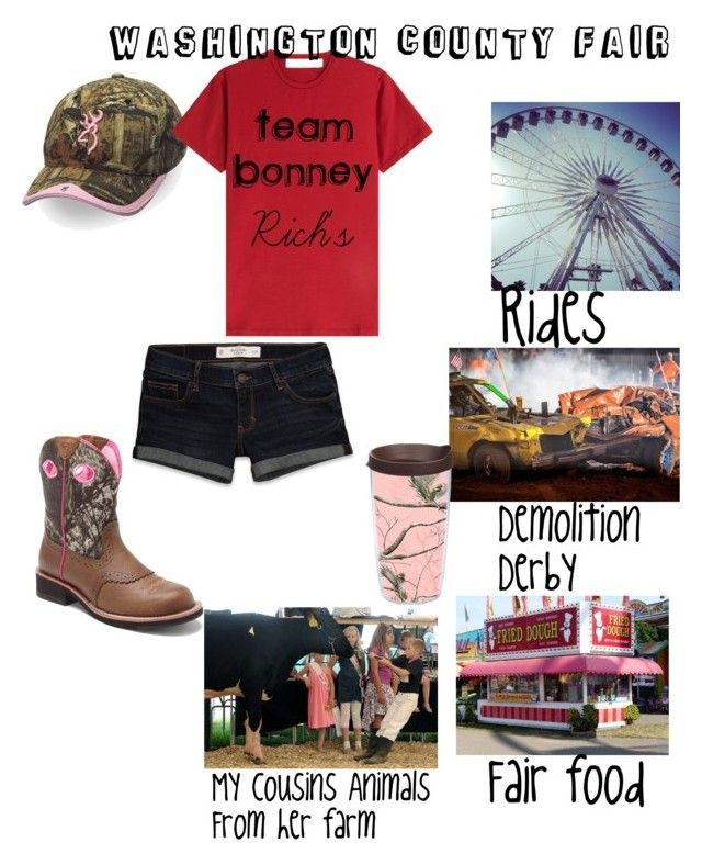 """Washington county fair"" by haileycouture ❤ liked on Polyvore featuring Ariat, Realtree, Abercrombie & Fitch and dVb Victoria Beckham"
