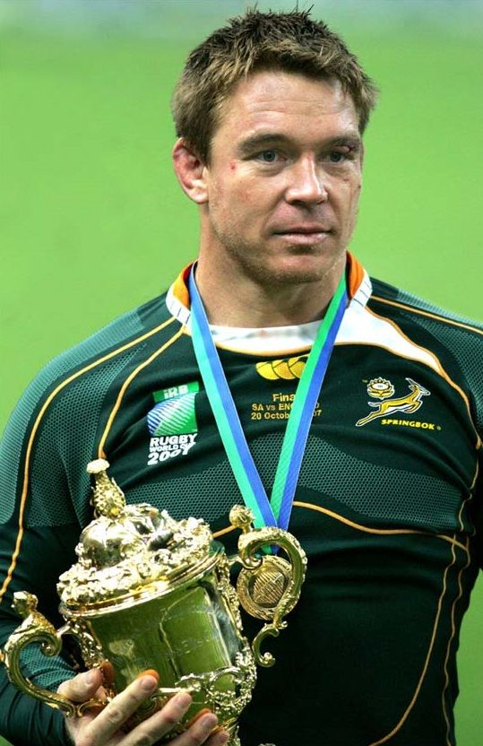 John Smit Rugby World Cup 2007 South Africa Winners - my hero! I met him recently and what a great guy!