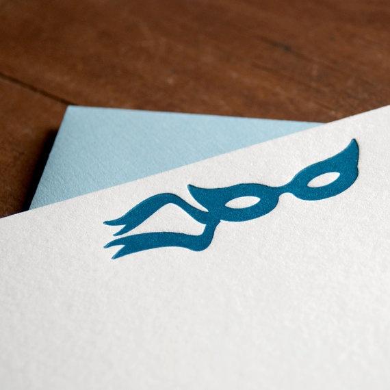 Secret Admirer Letterpress Cards by PheasantPress on EtsyLetterpresses Cards, Unique Style, Secret Messages, Masks Letterpresses, Admire Letterpresses, Masquerade Masks, Masks Masquerades, Cards Secret, Secret Admire