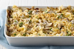 Dinner tonight - Homemade creamy tuna noodle casserole (using whole grain pasta to make it a little healthier!)