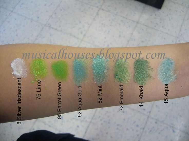 Barry M Dazzle Dusts swatches Part 1