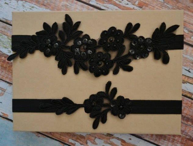 wedding garter set black bridal garter set black beaded lace