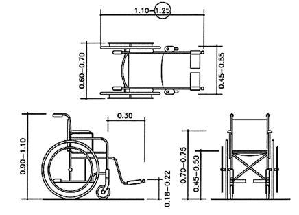 Wheelchair dimensions.