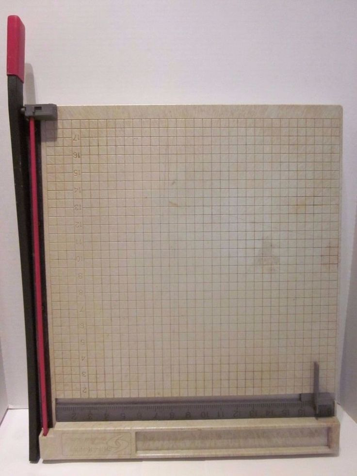 "Skilcraft Paper Slicer Cutter 18"" x 18"" Trimmer Craft Guillotine Blind Made Vtg #Skilcraft"