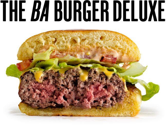 The BA Burger Deluxe: Bon Appétit | Food & Drink | Pinterest