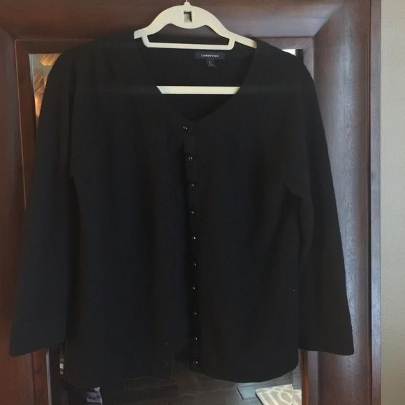 Land s end sweater Black hardly worn Lands' End Sweaters Cardigans