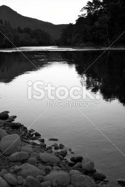 Last Light on the Buller River, Murchison, NZ Royalty Free Stock Photo