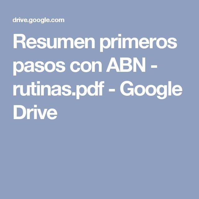 Resumen primeros pasos con ABN - rutinas.pdf - Google Drive