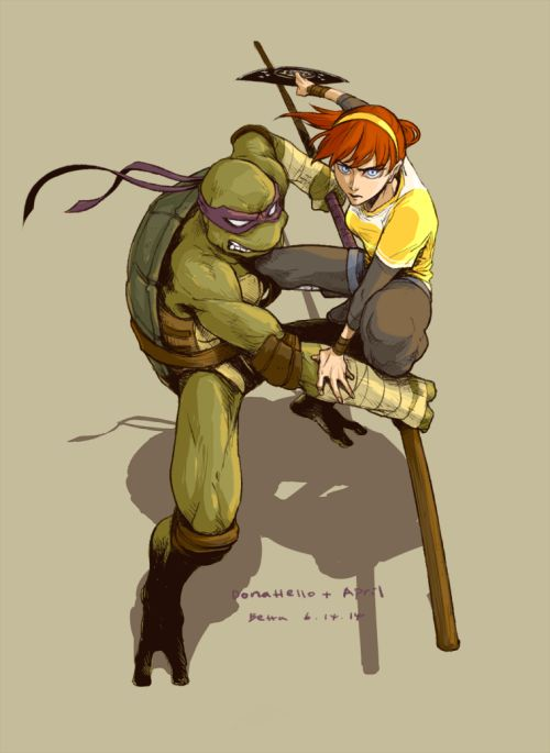 OP: old Donnie and April doodle I miss drawing fanarts so much, it hurts that I don't have much free time these days. ㅠㅠㅠㅠㅠㅠㅠㅠ | TMNT 2012