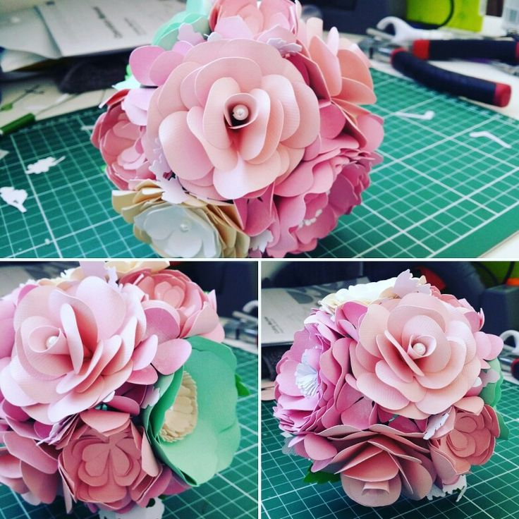 Paper bouquet made of roses, ranunculus, peony, roses, anemone, succulents, hydrangea and foliage with pearl detail. www.thepaperroseflorist.com.au
