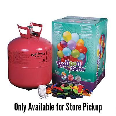 Disposable Helium Tank With 50 Balloons