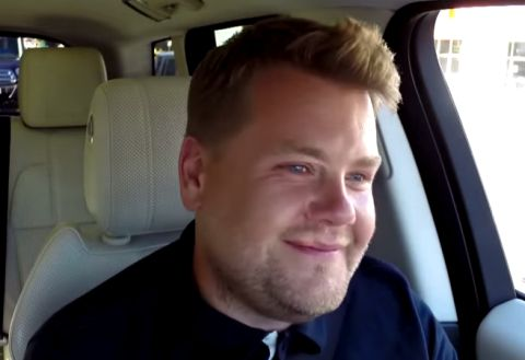 James Corden started crying when Stevie Wonder sang to his wife