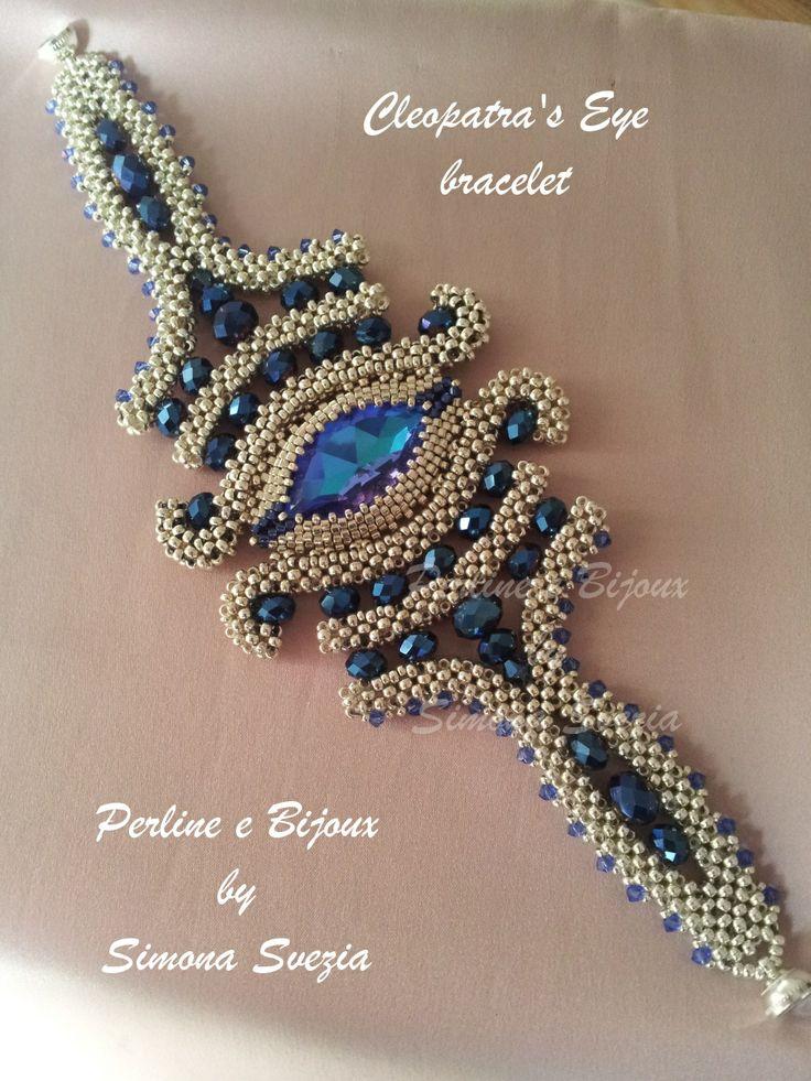 Perline e Bijoux: Cleopatra's Eye bracciale/bracelet