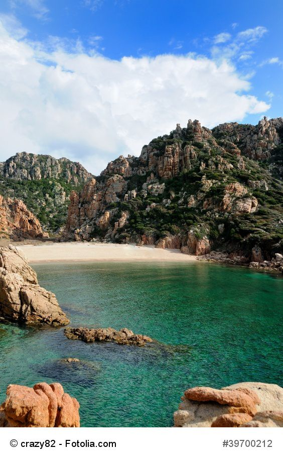"""Sardinia: Cala """"Li Cossi""""- A pearl of the Costa Paradiso with transparent green waters that tend to become blue when deeper, surrounded and protected by granite and lush green Mediterranean scrub … Do not miss at the sunset !!!"""