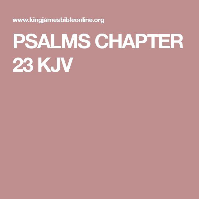 PSALMS CHAPTER 23 KJV