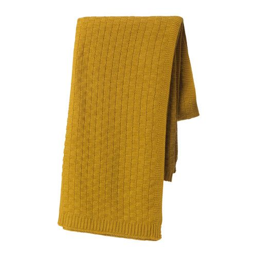 IKEA ANTOINETTA Throw Yellow 120x180 cm