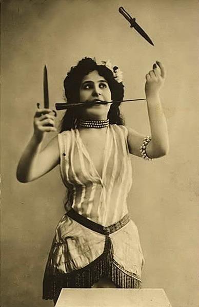 vintage carnival people images | vintage antique antique photo carnival circus act freakshow knives