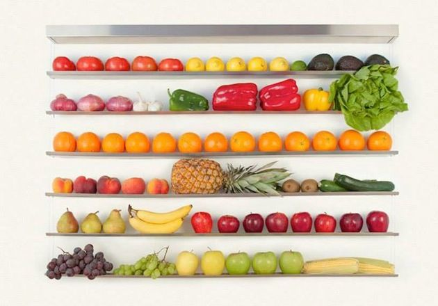 Fruit Wall store your fruits on the wall - Carmina Mahago y Diego Polognioli