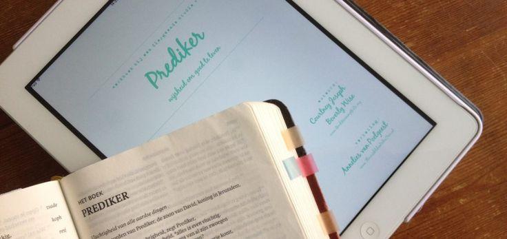 Bijbelstudie Prediker - wijsheid om goed te leven